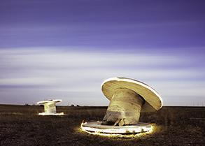 White spools with edge light Nebraska