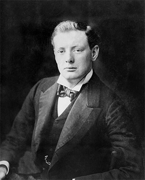 Young Winston Churchill circa 1900