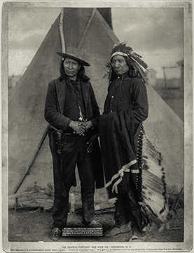 image from the Library of Congress l:Red Cloud r: American Horse