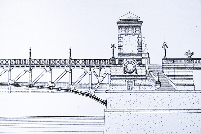 Michigan Ave. Bridge plan