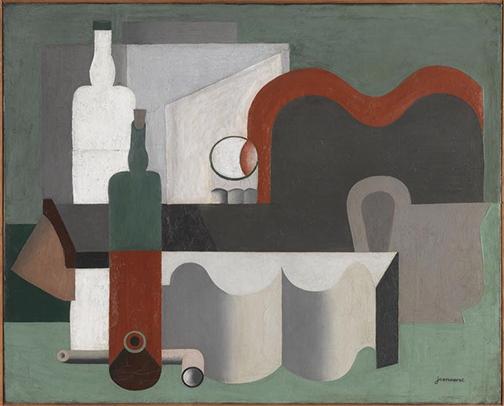 Le Corbusier, 1921, Nature morte (Still Life), oil on canvas, 54 x 81 cm, Musée National d'Art Moderne, Paris